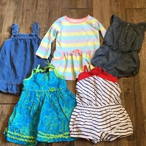 2T rompers and summer dresses.